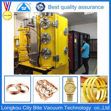 gold watch jewelry used vacuum metalizing machine/plasma coating machine/plant/equipment