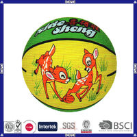good choice made in China hot sell promotional customized logo colorful rubber basketball