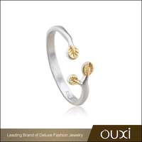 OUXI New arrivals silver jewelry, gold plated ring jewelry for party Y70061