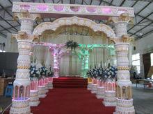 Anaglyph water pagoda in India/ wedding crystal column/pagoda