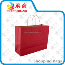 Guangzhou factory foldable recyclable red custom brand shopping bags
