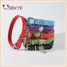 High Quality Best Selling PU Leather dog chain Collar Prices Fashion Pet Cat Dog Training Collar