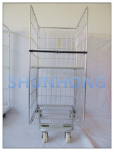 EU Standard Warehouse Storage Cage,Roll Cage, Wire Mesh Cages SH-RC01