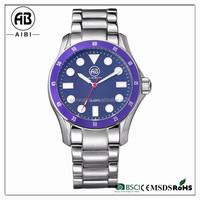 customize bezel color wathces men 10 atm fancy fashion waterproof watch with logo