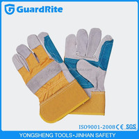 """GuardRite brand 10.5"""" half chrome free working leather gloves reinforced factory"""