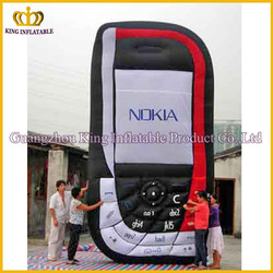 China factory inflatable large various color mobile phone,Iphone cheap advertising inflatable