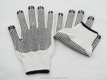 Two sides dots coated gloves, computer cotton knitting gloves