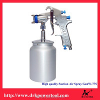 Professional Car Beauty good helper DRK W-77S High quallity Air Paint tools Suction Type Air Spray Gun With Aluminum Cup