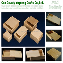 small wooden sliding lid box