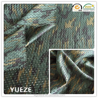 100% polyester mesh fabric with camouflage for bags knapsack