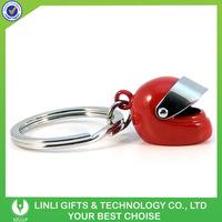 Metal Helmet keychain for motorcycle