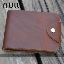 2015 special design casual buckle genuine leather men wallet