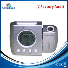 Digital radio controlled clock thermometer with projection