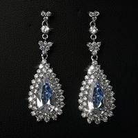Elegant wedding earring of AAA zircon hang earring of Romantic pendant earring