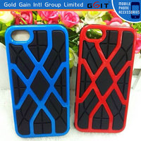 Colorful 2 In 1 TPU+PC Combo Cover for iPhone 6 Tyre Skin Case