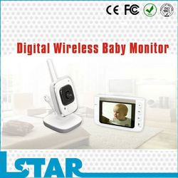 3.5inch color video monitor baby with IR night vision and remote monitoring