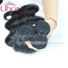 8A Grade Unprocessed Raw Russian Human Hair Weave black peruvian virgin hair body wave