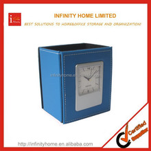 China Supplier Fashionable Clock Pen Holder With Calendar