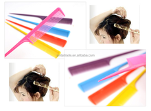 2015 Wholasale hair Pointed 6colors Tail Comb For Hairdresser Hair Cutting And Styling Makeup Comb Salon Tools