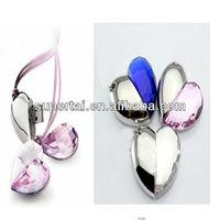 Fashional Crystal Jewelry Heart Usb Flash Drive 4gb