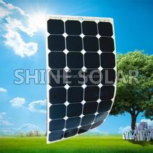 sun power monocrystalline solar panel 90w flexible solar module 100w