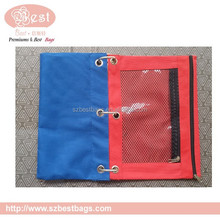 office stationery zipper document pouch for 3 ring binder