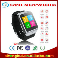 S28 bluetooth GPS Silicon smart watch for iphone5/iphone6/ android smart watch
