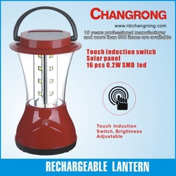 solar rechargeable lantern with 16pcs LED light