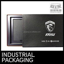 Foil Stamping Black Shoulder Boxes with Themoforming Tray