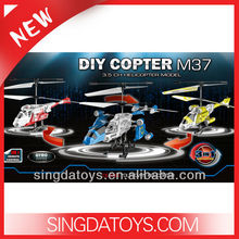3 In 1 M37 DIY Assembly RC Helicopter Model 3.5CH With Gyro