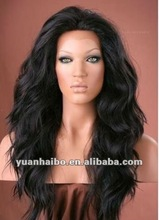 2012 hot sale factory bottom price 18 inch #1b brazilian hair 100% human hair wigs lace front wig in stock accept paypal