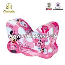Customized butterfly shape metal tin box CD-189