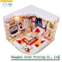 3D puzzle honey pine room furniture bedroom model