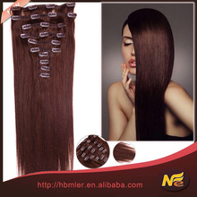 Hot selling!fast delivery wholesale price 100% brazilian hair clip-on hair extension