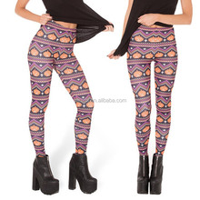 Lady Korea Wonder Doodle Sex Comics Alphabet Print Lycra Leggings Pants