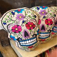 Sugar Skull * Candy Skull * Day Of Dead Skull Shaped Cushion - Very cute gift