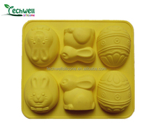 CM-003 silicone cake mould for easter egg and rabbit