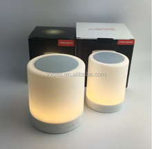 touch sensor led table lamp with mini speaker, wireless led light with bluetooth speaker