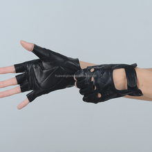 Specialized designed for women winter driving fingerless leather gloves