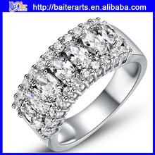 Popular in Europe and the United States fashion crystal stone rings--nine colors