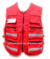 DFW-072 TC twill fabric red vest for worker
