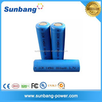 high quanlity customized 14500 lihitum ion 3.6v 800mah rechargeable battery