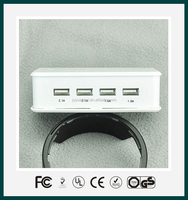 Universal multi usb smart Charger 4 Port USB 5V6A Travel Charger 30W with smart IC for iPhone iPad Android tablet