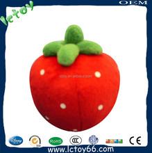 Lovely plush strawberry stuffed plush toy fruit