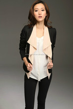 New arrival blazer sex women fashion ladies slim black coat 2015 guangzhou supplier