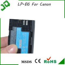 2015 Wholesale High Capacity For canon lp-e6 camera battery