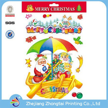 non adhesive reusable window static cling sticker christmas static sticker