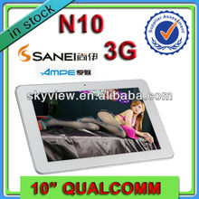 10 inch Tablet MID 3G+Android 4.1+Quad Core+IPS Screen+ Phone Call+ GPS +Bluetooth Tablet PC Price China