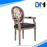 Antique restaurant chairs dining room chair cover leather arm chair