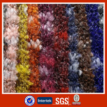 Colorful shiny knitted sweater wear polyester fabric design